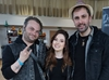 John Shelton with Nathan Head and Jessica Messenger at Beeston Comic Con 2018