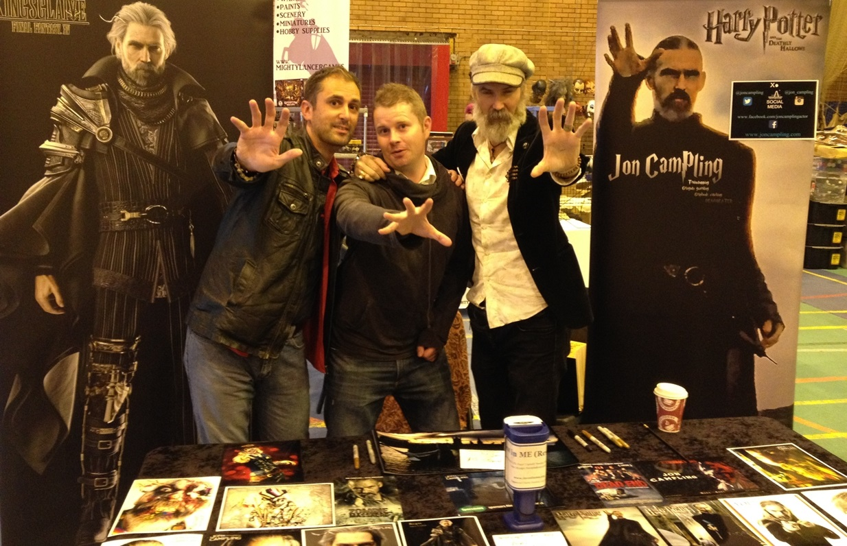 Zombie King cast members Nathan Head and Jon Campling with Lost Generation director Mark Ashmore at a Horror Event