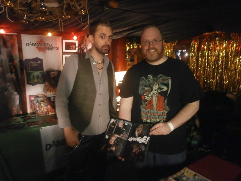 Nathan Head Liverpool Horror Fest - Dorian and Drama comic - Hellbound Media