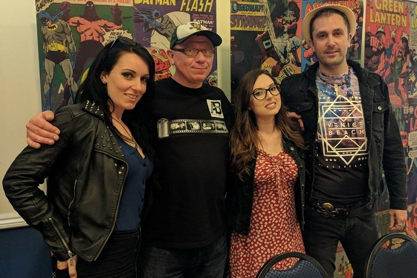 Maria Lee Metheringham & AB Convention Agent & Jessica Messenger & Nathan Head at Lytham Comic Con 2018
