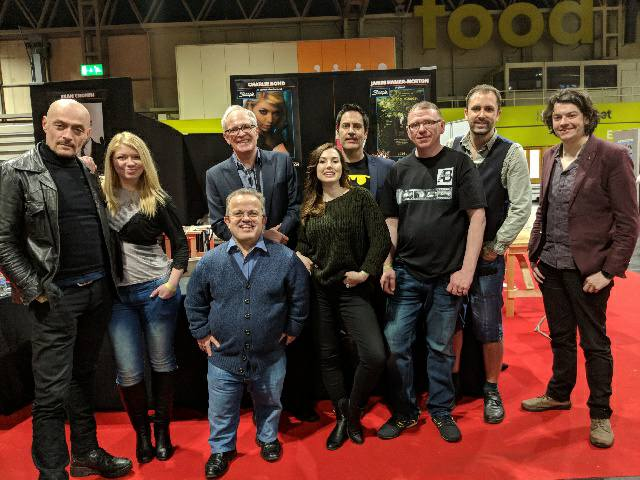 MCM Birmingham ComicCon Spring 2018 - Sean Cronin, Charlie Bond, Willie Coppen, Philip Harvey, Jessica Messenger, Jake Francis, AB Convention Agent, Nathan Head, James Hamer-Morton