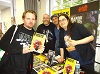 musician Dan Peach of Lesbian Bed Death with Hellbound Media's Matt Warner and Mark Adams and actor Nathan Head at Manchester Comic and Reading Festival 2018
