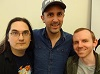 a HBW reunion - Mark Adams (Scarwcrow), Nathan Head (Skin), Robert Shaw (Eggshen) at Manchester Comic And Reading Festival 2018