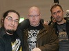Nathan Head and Mark Adams with horror author Dave Charlsworth at the 2017 Mega Liverpool Horror Con