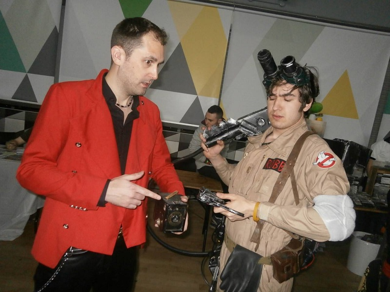 Nathan Head Mersey Comic Con - Dorian and Drama comic - Hellbound Media - Ghostbusters