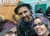 "actor ""Nathan Head"" with authors ""C L Raven"" at Wales Comic Con 2 2017"