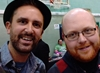 Nathan Head and his friend Martin at Wales Comic Con