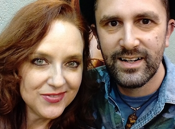 Horror actor Nathan Head meets Stargate SG1 actor Suanne Braun at Wales ComicCon