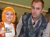 Nathan Head with Leeloo Dallas Cosplay at Wales Comic Con April 2017