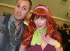 """Nathan Head"" with uniform model ""Kathy West"" Cosplaying as Daphne from Scooby Doo at Wales Comic Con April 2017"