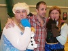 Nathan Head with two pretty Disney Princesses at Wales Comic Con April 2017