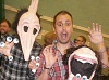 Nathan Head with the Maitlands from Beetlejuice at Wales Comic Con April 2017