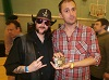 Nathan Head with a Lemmy Cosplayer at Wales Comic Con April 2017