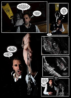 actor Nathan Head - Dorian and Drama photo comics - horror comic