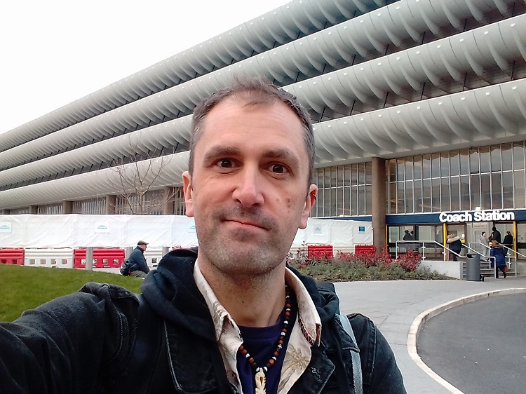 Nathan Head visiting the filming location at Preston Bus Station - March 30th 2019