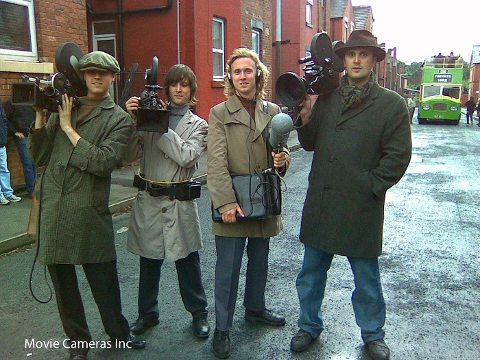 "Featured cameramen in The Damned United - ""Dave Aspinall"" and ""Nathan Head"" - vintage camera equipment by Lee Martin of Movie Cameras Inc"