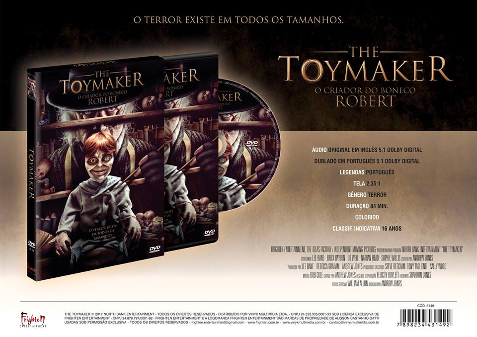 Portugese advert for The Toymaker released in Brazil
