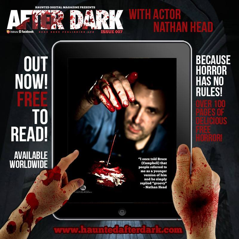 """Nathan Head"" Horror Actor in ""After Dark"" digital magazine"