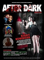 "actor ""Nathan Head"" and actress ""Tristan Risk"" - Haunted ""After Dark magazine"" front page"