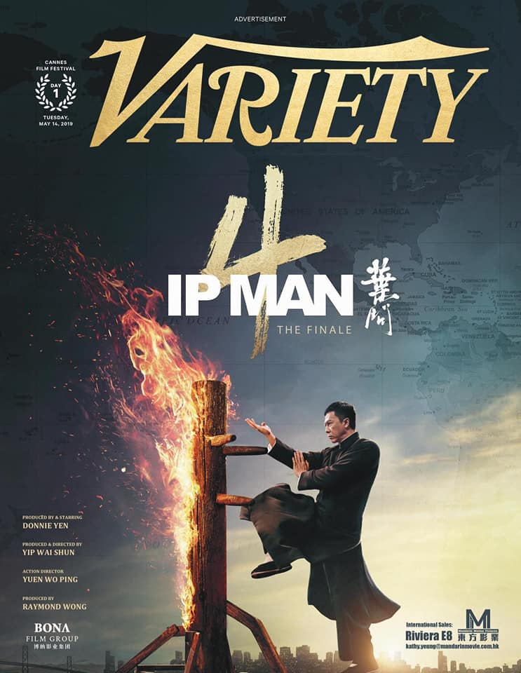 Ip Man 4 on the cover of Variety Magazine for Festival De Cannes 2019
