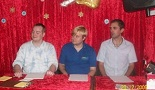 Nathan Head - James Dean - John Mercer - judging Tameside talent contest in 2009