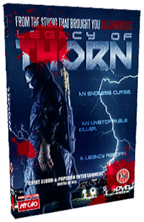 Legacy Of Thorn - 2014 Red Edition UK DVD art - Nathan Head slasher movie
