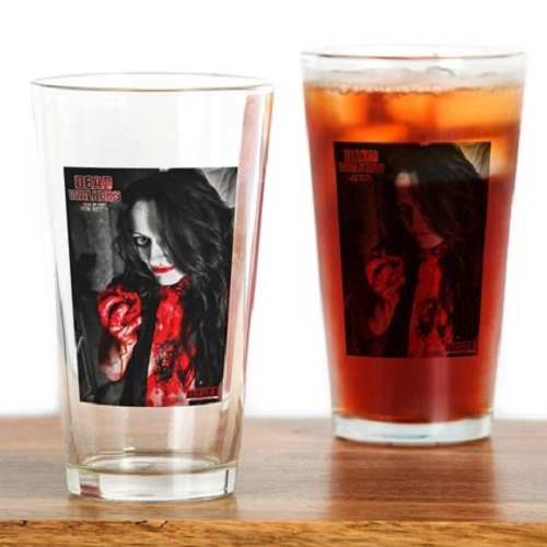 Nathan Head - horror merch - 16ounce Drinking Glass- dead walkers rise of the 4th reich - products