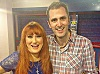 "actor ""Nathan Head"" with Irish singer ""Rose Marie"" at the Rhyl Pavillion - April 2013"