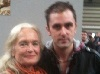 "actor ""Nathan Head"" with ""Bond Girl"" & ""Carry On"" star ""Shirley Eaton"" at the NEC in Birmingham in April 2011"