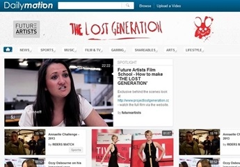 The Lost Generation featured on the DailyMotion homepage to celebrate the launch