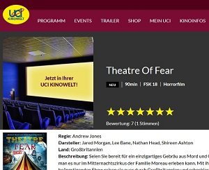 Nathan Head - Theatre of Fear - UCI Cinema release - June 2016